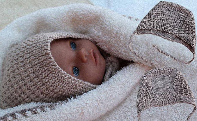 вязание чепчика для новорожденного спицами инструкция ля