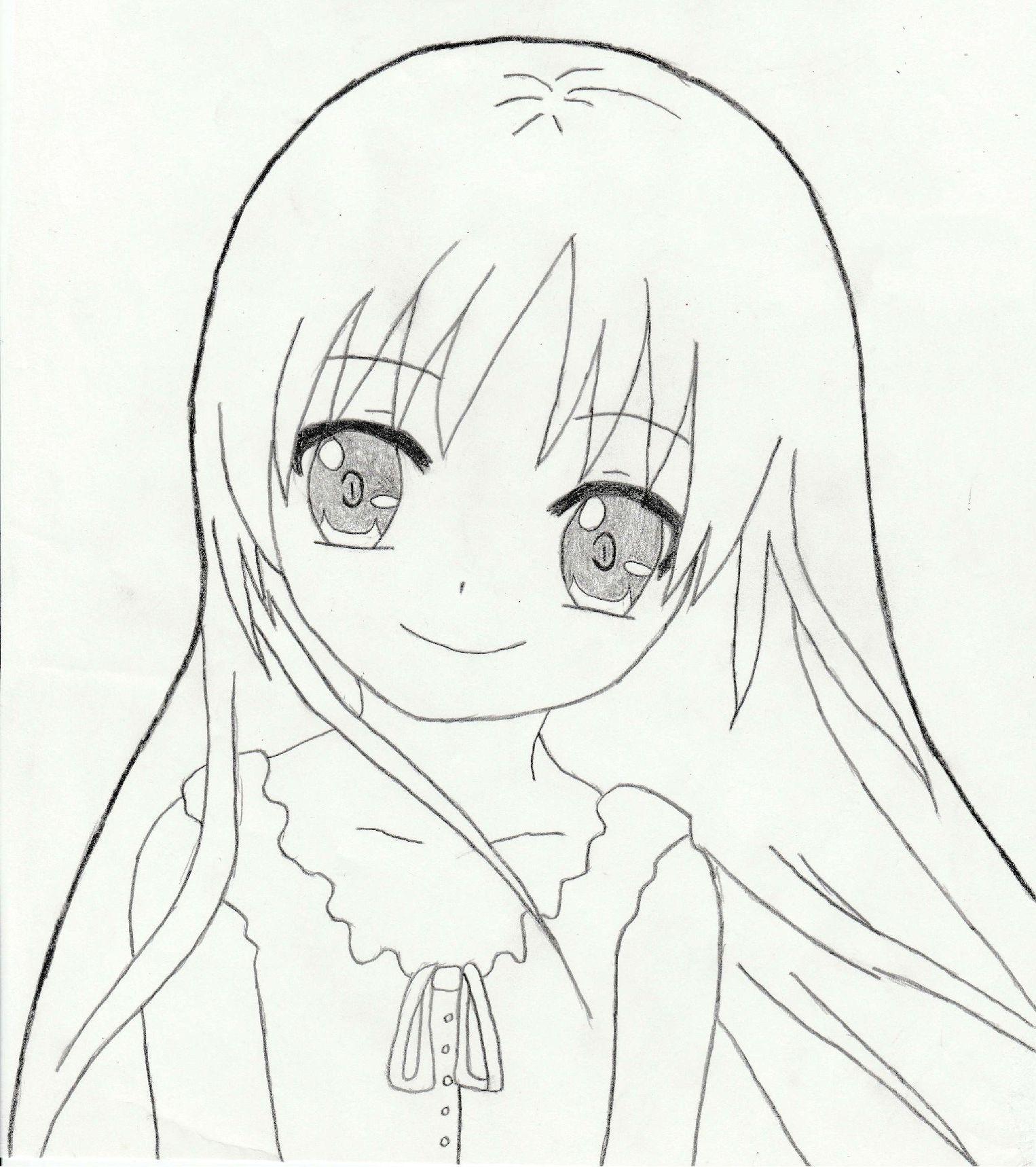 Картинки для срисовки карандашом прикольные для девочек 14 лет аниме