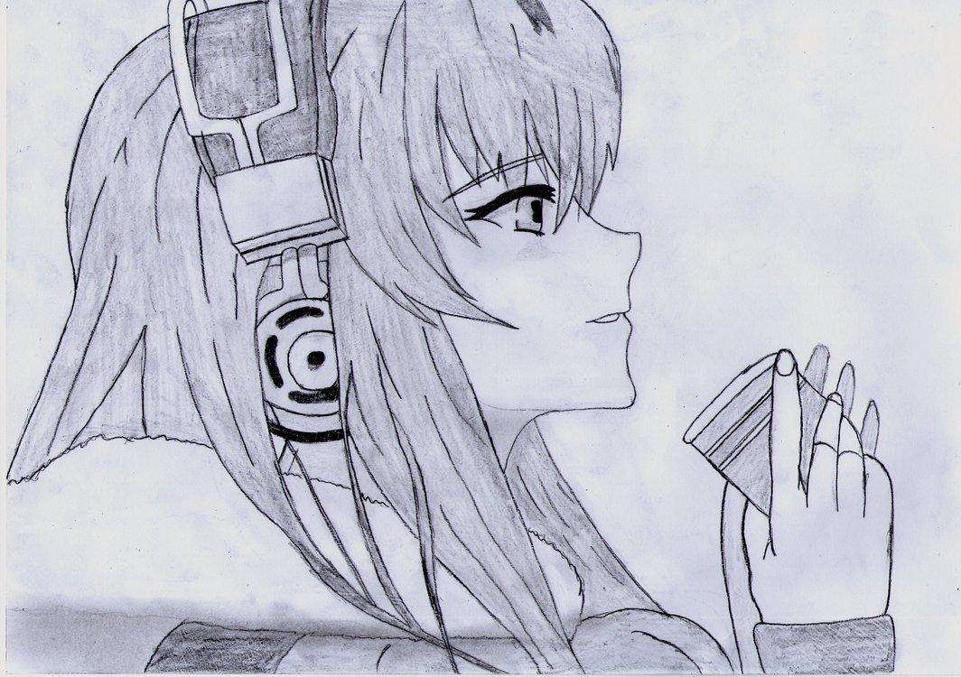 Открытка днем, срисовка прикольных картинок аниме