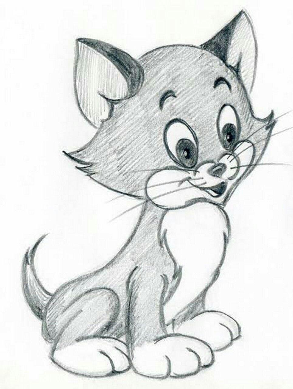 Срисовать легкие рисунки карандашом