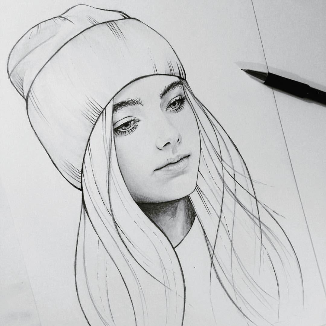 Картинки девочек с карандашом крутые
