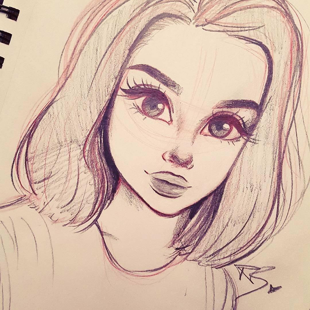 качестве арты для рисования карандашом очень легко и красиво собрали