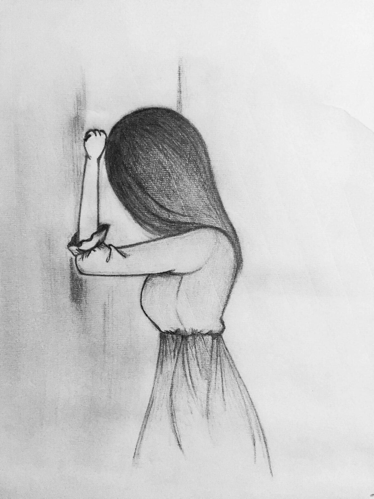 Классные грустные картинки для срисовки