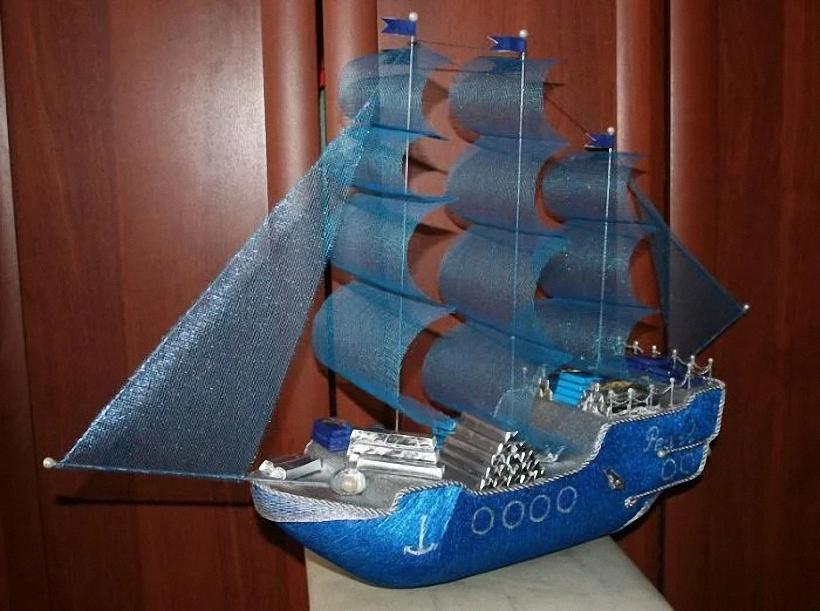 корабль из конфет своими руками пошаговое фото саратове трамвай несколько