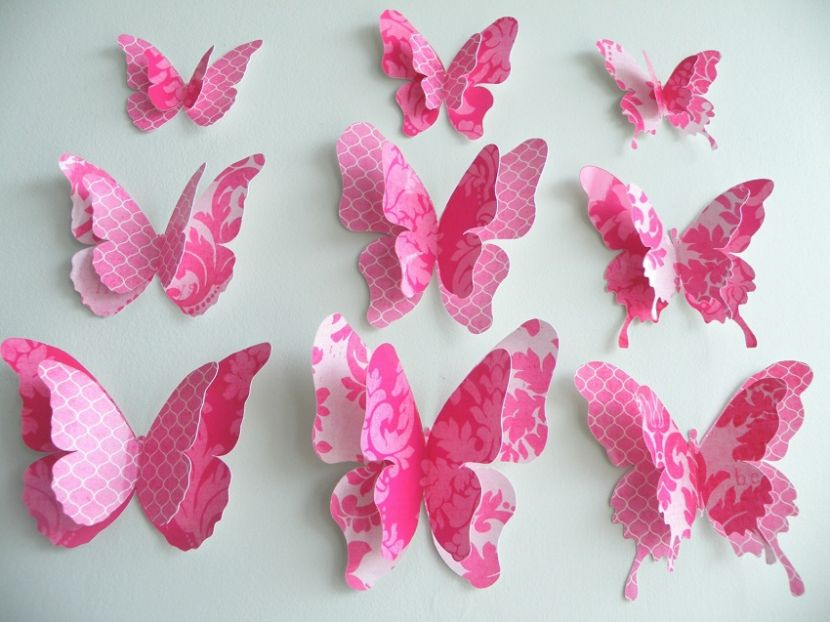 Как сделать бабочку из материала своими руками