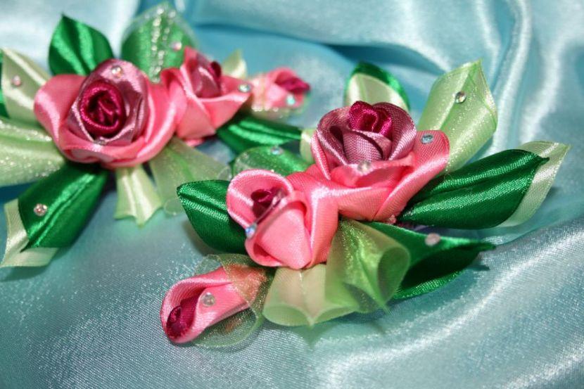 Цветок, заказать цветы из лент