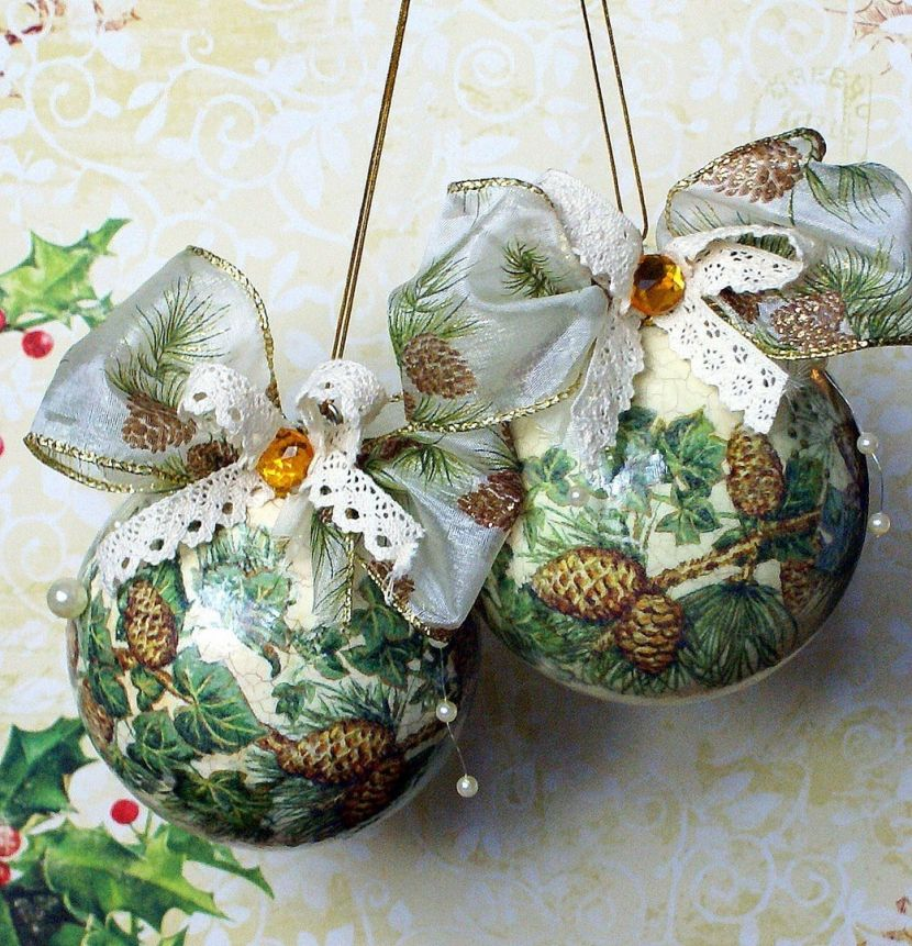новогодние шары своими руками фото мастер класс которого упал