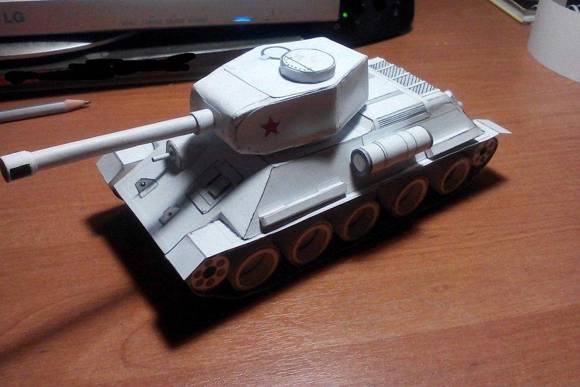 kak_sdelat_tank_iz_bumagi_12 Как сделать танк из бумаги своими руками?