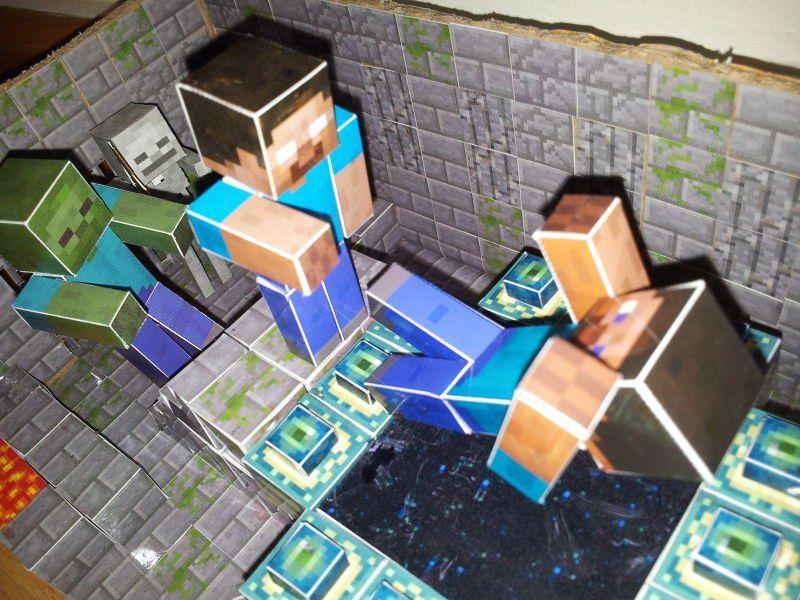 maynkraft_iz_bumagi_5 Майнкрафт из бумаги без клея. Майнкрафт из бумаги: инструкции, схемы и описания