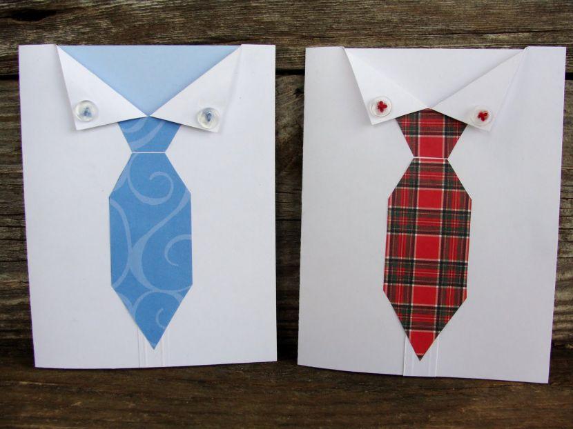 Как сделать галстук на открытку из атласной ленты своими руками