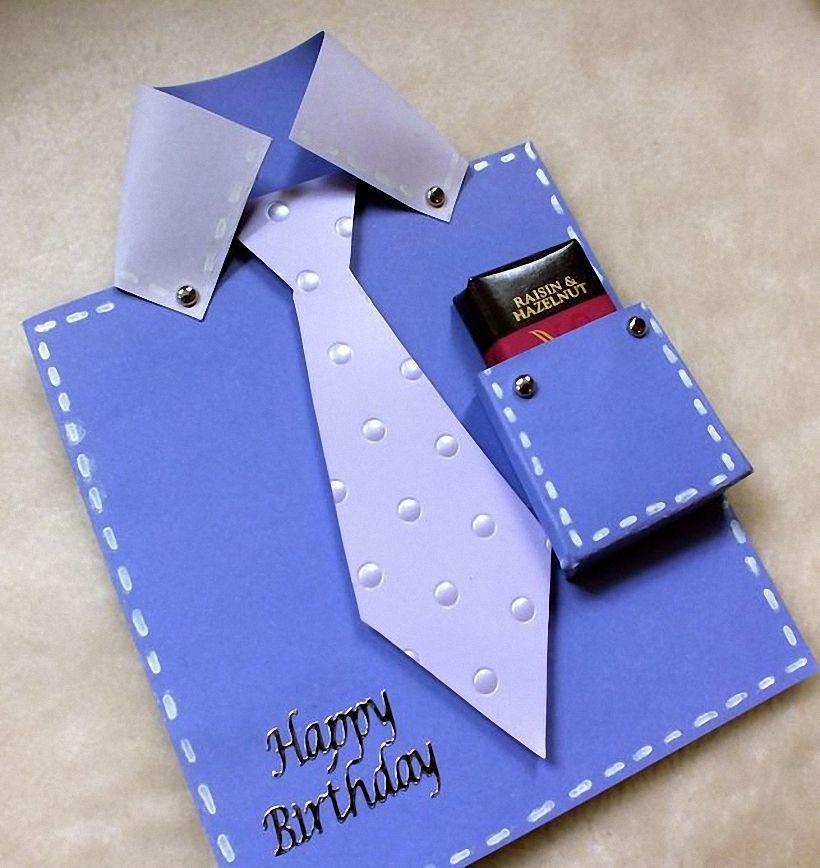 Открытка рубашка папе на день рождения своими руками