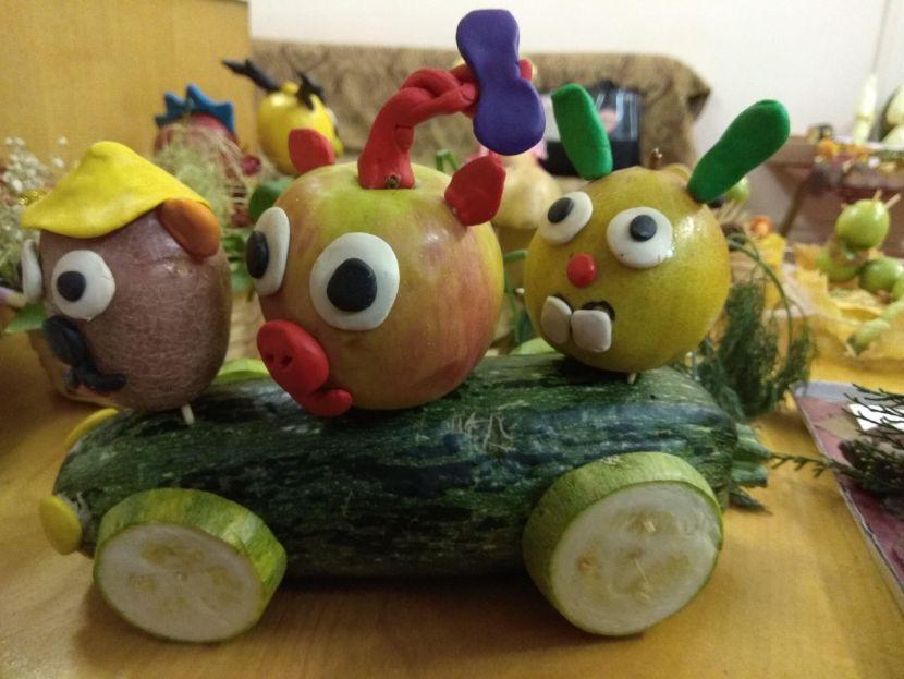 людьми картинки осени поделки из овощей и фруктов долгие