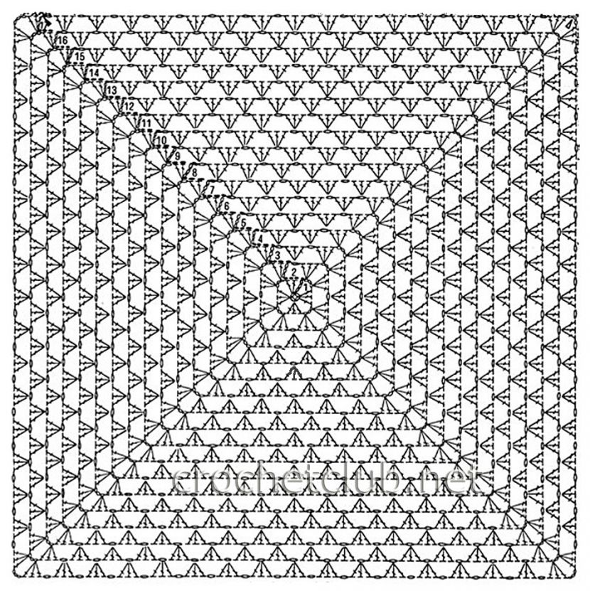 Вязанный плед крупной вязки крючком