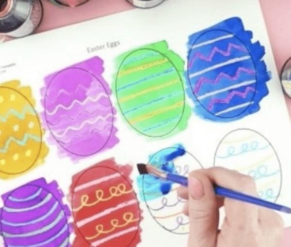 Нарисовать яйца