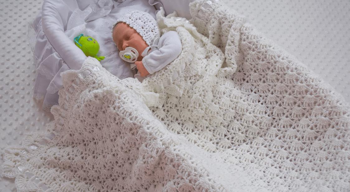 Плед крючком для новорожденных: схемы красивые и простые для начинающих