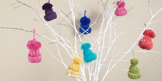 Украсим елку интересно! 16 идей елочных игрушек своими руками