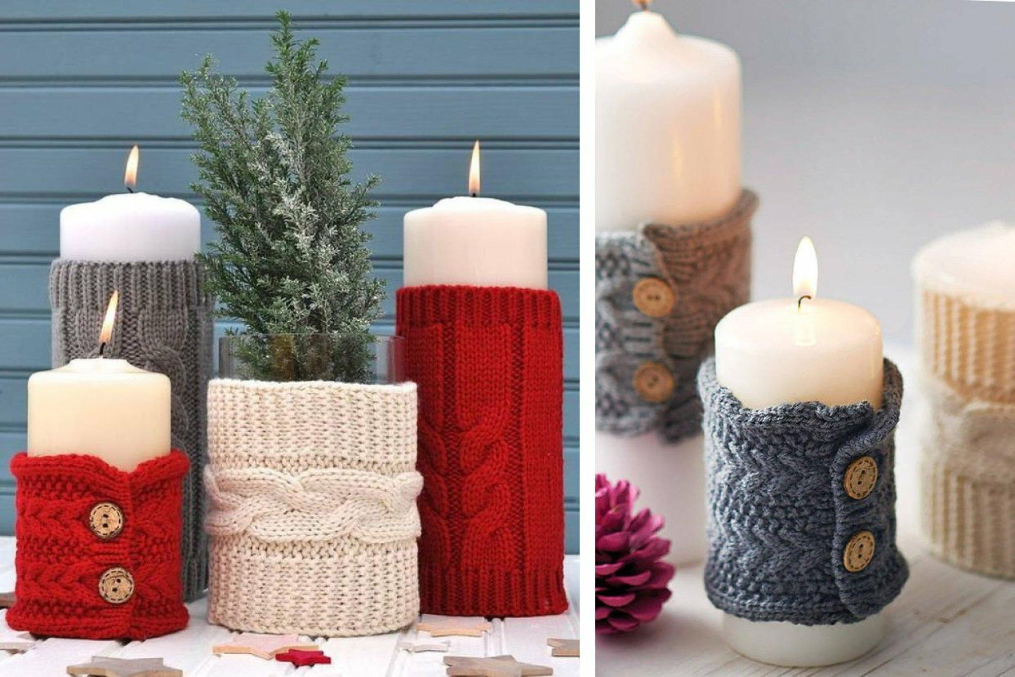 Делаем декоративные свечи своими руками на Новый год